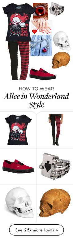 """OFF WITH YOUR HEAD!!!"" by bandom-stuff on Polyvore featuring Once Upon a Time, Vans and L'Objet"