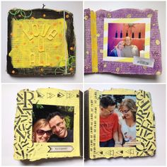 Mini dedicado a los amores de mi vida #scrapbooking #minialbum #mixedmedia