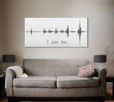 Voice Print Wave Art A Personalized Message On by CanvasVows