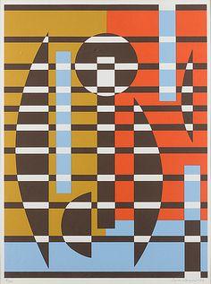 Sam Vanni: Sommitelma, serigrafia, 1984, 65x48,5 cm, Bukowskis Market