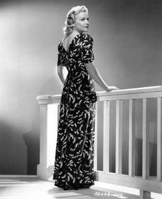 Madeleine Carroll   Edith Head gown