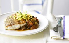 Recipe - Crispy Fish with Roast Ratatouille. Enjoy hundreds of healthy recipes at the Hairy Bikers' Diet Club today!