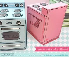 retro oven   cupcake box party favor box gift by claudinehellmuth, $4.99