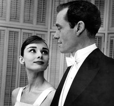 Rare Audrey Hepburn — Audrey Hepburn and Mel Ferrer at their Los Angeles...