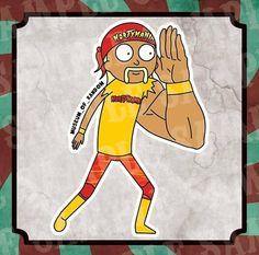 Rick and Morty x Hulk Hogan