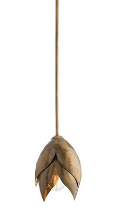 The brass Edith Pendant is reminiscent of a bud in bloom | DSHOP