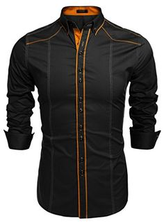 Coofandy Men's Button Down Dress #Shirts Casual Slim Fit Shirts... wide selection of colors to choose from. #MensFashion