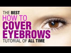 Drag Queen Tutorial : How to cover eyebrows - YouTube
