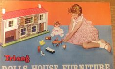 1961 Vintage  TRIANG dolls house furniture  catalogue copy from archive original