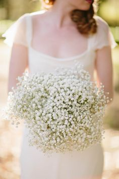 Baby's breath bouquet from butterflyphilosophy.com.au  Read more - http://www.stylemepretty.com/australia-weddings/2013/08/09/french-provincial-inspiration-at-montrose-berry-farm-from-origami-creatives/
