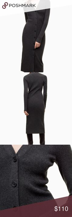 NWT Aritzia Hariette Midi Sweater Dress XS Sold out! Please note that the dress I'm selling is black, not charcoal. By Wilfred. New with tags. Aritzia Dresses Midi