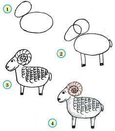 Hoe teken je een ram