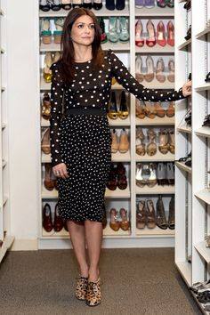 Five Days, Five Looks, One Girl: Filipa Fino - Vogue Daily - Fashion and Beauty News and Features Outfits Mujer, First Girl, Look Chic, Chic Chic, Work Fashion, Fashion Top, Fashion Spring, Daily Fashion, Dot Dress