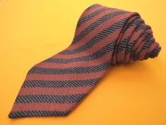 Dunhill Tie Pure Cashmere Stripe Pattern Red Blue Vintage Designer Dress Necktie Made In Italy by InPersona on Etsy