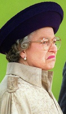 The Queen is not pleased. Funny.