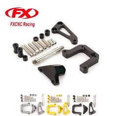 FX CNC Adjustable Steering Stabilize Damper Bracket Mounting Kits Fit for Yamaha M-SLAZ Motorcycle Accessories Support