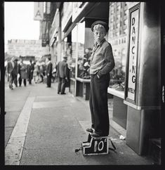Shoe shine boy, New York City, 1947. Stanley Kubrick