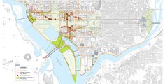 Monumental core Framework Plan: Connecting New Destination with the National Mall