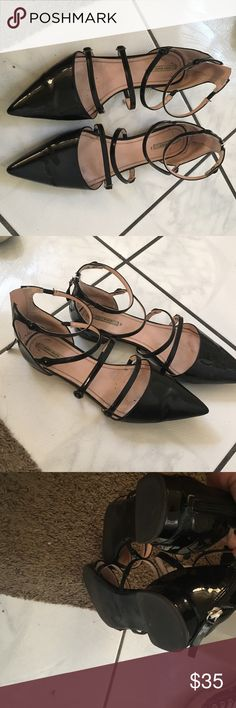 Zara ballerina flats Gently worn some creases at the toe Zara Shoes Flats & Loafers