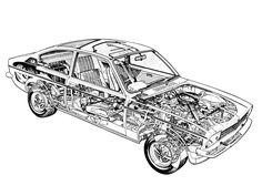 1973-77 Opel Kadett Coupe (C) - Illustrated by Terry Davey