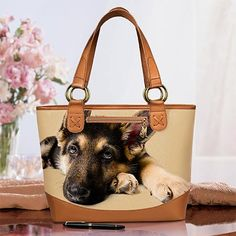 German Shepherd bag - German Shepherd handbag - Ardleigh Elliott dog-themed tote