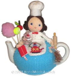Sweet Pastrycook Tea Cosy knitting pattern Pdf $4.50 on Etsy at http://www.etsy.com/listing/48256872/sweet-pastrycook-tea-cosy-pdf-knit