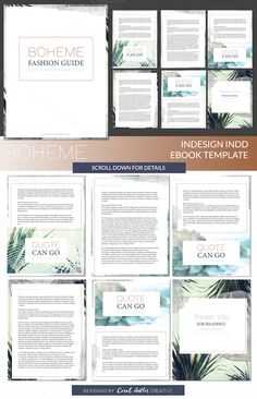 Boheme INDD Ebook Template by Coral Antler Creative on @creativemarket