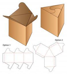Afbeeldingen, stockfoto's en vectoren van Box Template Food Box Packaging, Food Packaging Design, Paper Packaging, Bag Packaging, Paper Box Template, Food Template, Origami Templates, Box Templates, Vintage Logo Design
