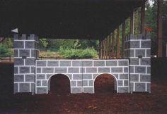 building horse jump standards | ... gates, jump standards, castle bridges, water jumps, horse show jumps