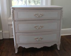 Lovely French Provincial Bow Front Chest of by LilacBlanchome