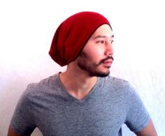 Slouch Mens Beanie Hat Men Clothes Christmas Gift  by MissTopKnot, $28.00