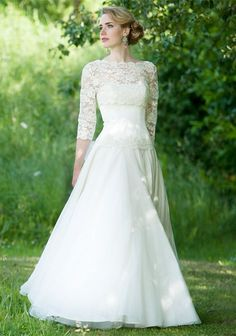 Lace sleeves are still a huge bridal trend!