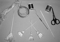 Tutorial for miniature sisal brooms