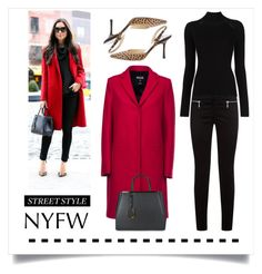 """Day Two. .. NYFW Street Style"" by conch-lady ❤ liked on Polyvore featuring J Brand, MSGM, Misha Nonoo, Jimmy Choo, Fendi, StreetStyle and NYFW"