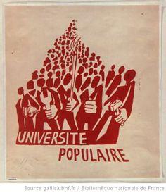 [Mai 1968]. Université populaire, Atelier populaire ex Ecole des Beaux arts : [affiche]