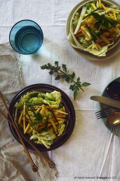 Green Mango & Green Papaya Salad | Veggie Zest