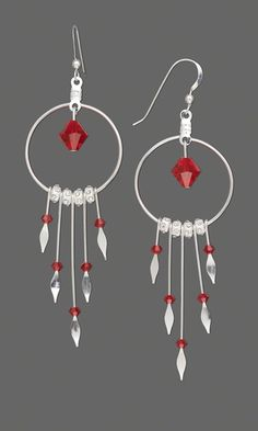 Earrings with Sterling Silver Paddle Pins and Swarovski® Crystal Beads - Fire Mountain Gems and Beads