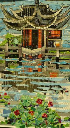waterlily series:Susan Schenk -- gorgeous collage work