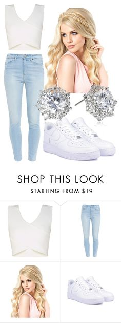 """""""Untitled #34"""" by arnaliz-salinas on Polyvore featuring BCBGMAXAZRIA, Paige Denim, NIKE and CZ by Kenneth Jay Lane"""
