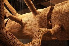 john grade sources sculptural skin sculpture from 85-foot tree cast