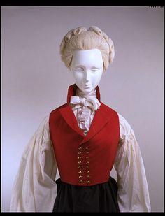 Riding habit waistcoat    Place of origin:  England, Great Britain (made)    Date:  1790-1795