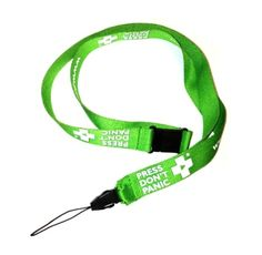 Share a message and Save $3.00 off your order! Press Don't Panic Lanyard