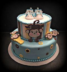 Items similar to Baby Shower Monkey Set Keys & Pacifier Cake Topper on Etsy Safari Cakes, Fondant Cake Toppers, Jungle Theme, Baby Shower Cakes, Shower Ideas, Monkey, Keys, Handmade Gifts, Desserts