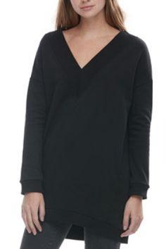 FASHION/OVERLOAD CHANDAIL COTON OUATÉ COL «V» NOIR Long Sleeve, Sleeves, Sweaters, Fashion, Cotton, Black People, Moda, Long Dress Patterns, Fashion Styles