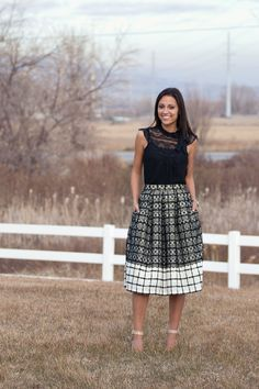 Lace and plaid midi skirt DIY || Me Sew Crazy