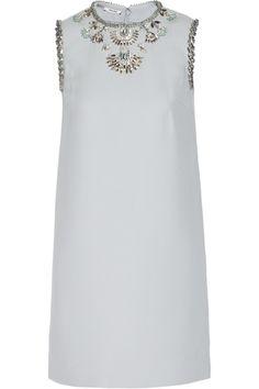 Miu Miu|Embellished cady mini dress|NET-A-PORTER.COM