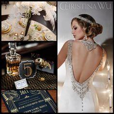 Christina Wu 15535 from House of Wu - a Great Gatsby feel. #weddingdress #christinawu #bride