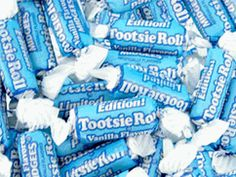 Vanilla Tootsie Roll (vanilla is always blue, see? Candy Craze, Wholesale Candy, Online Candy Store, Winter Wonderland Party, Blue Food, Blue Candy, Candy Favors, Wedding Candy