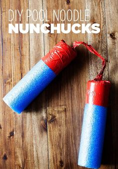 Pool Noodle Duct Tape Nunchucks | 101 Duct Tape Crafts