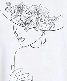 Illustration Art Drawing, Art Drawings Sketches, Illustration Flower, Contour Drawings, Dress Sketches, Design Illustrations, Outline Art, Abstract Line Art, Line Drawing